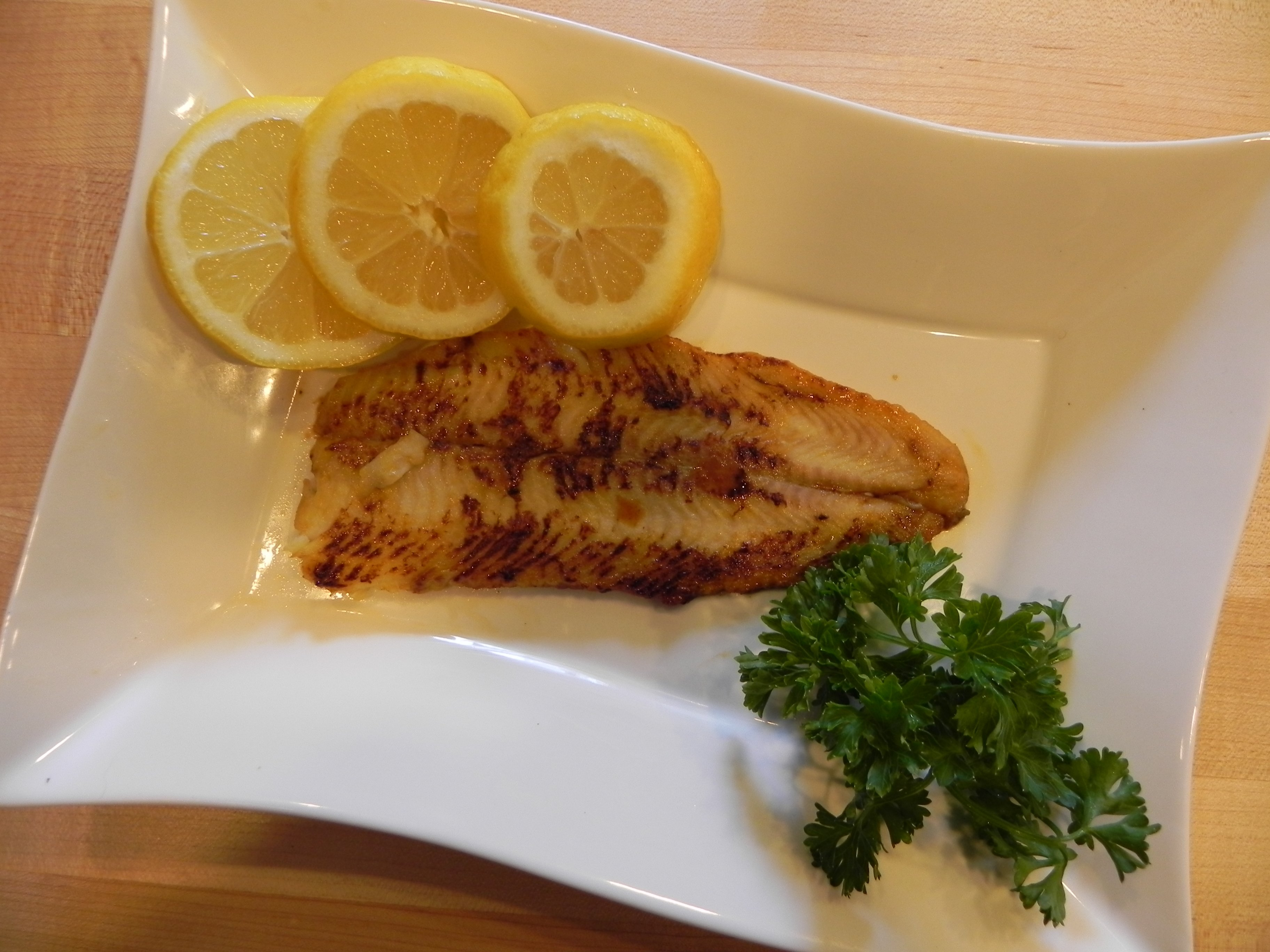 Dover Sole with Orange Juice, www.SimplyDeliciousLiving.tv