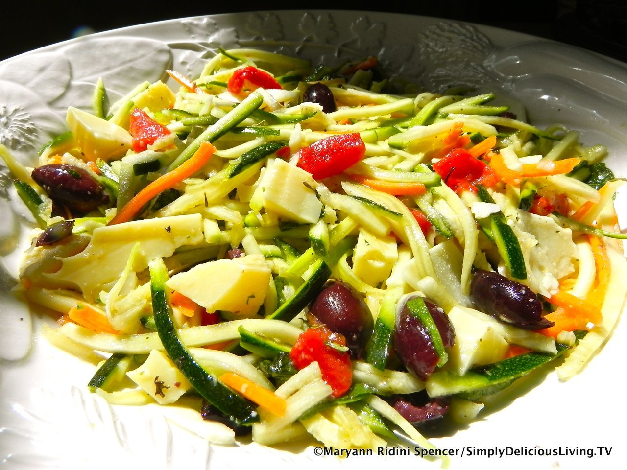 Zucchini Squash Salad – Simply Delicious Living with Maryann®
